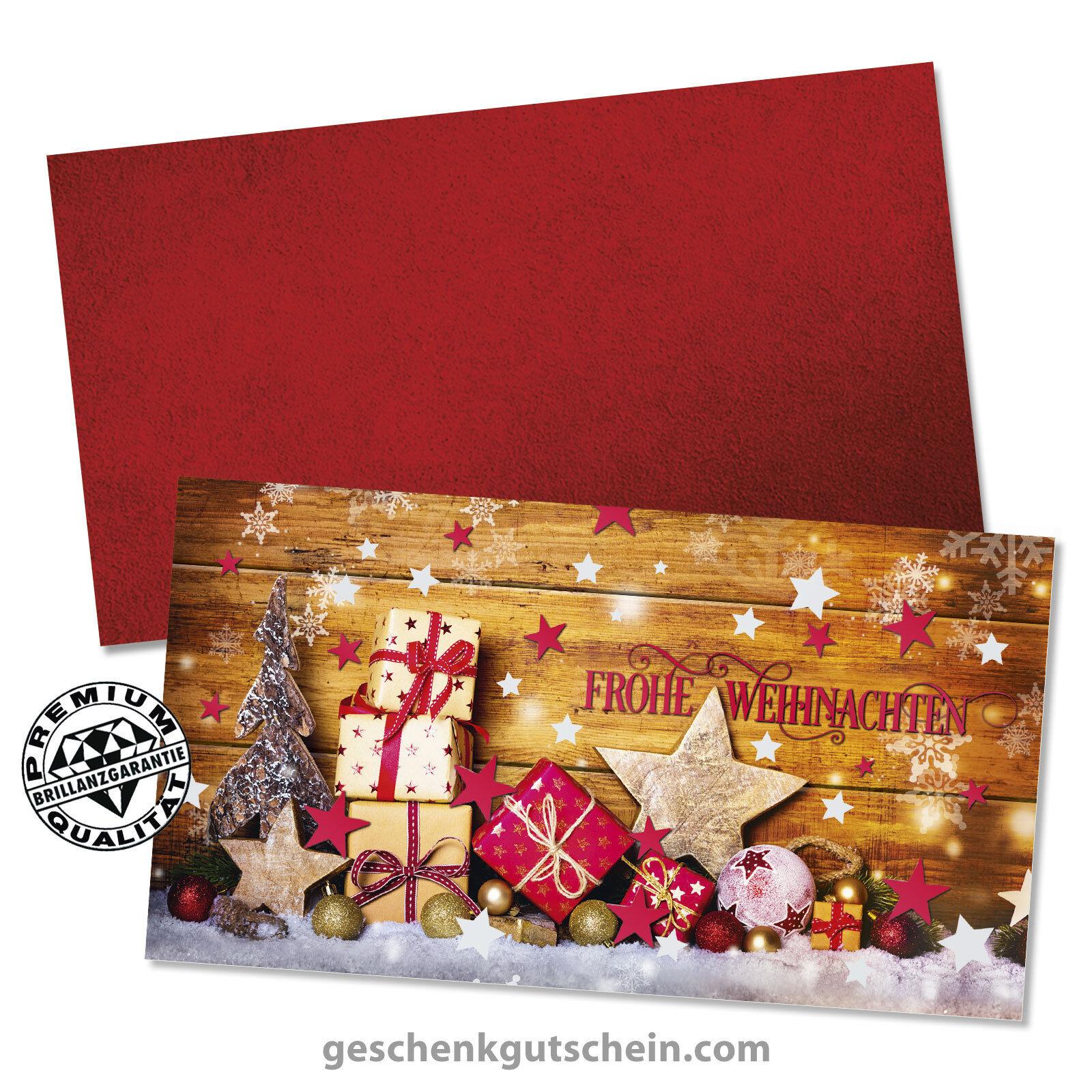 Weihnachts-Geschenkgutscheine mit KuGrüns für alle Branchen X1296  | Roman  | Reichhaltiges Design