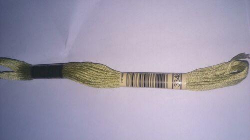 DMC 8 metros hilo de algodón de punto de cruz DMC 3348 Luz Amarillo Verde cantidad 1