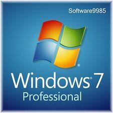 ORIGINAL WINDOWS 7 PRO 32 / 64BIT  GENUINE LICENSE KEY SCRAP PC