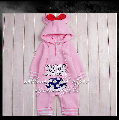 Kids Baby Boy Warm Infant Romper Jumpsuit Bodysuit Hooded Clothes Outfit XX005
