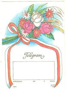 TELEGRAMME-POLOGNE-FLEURS-ROSES-EPIS-DE-BLE