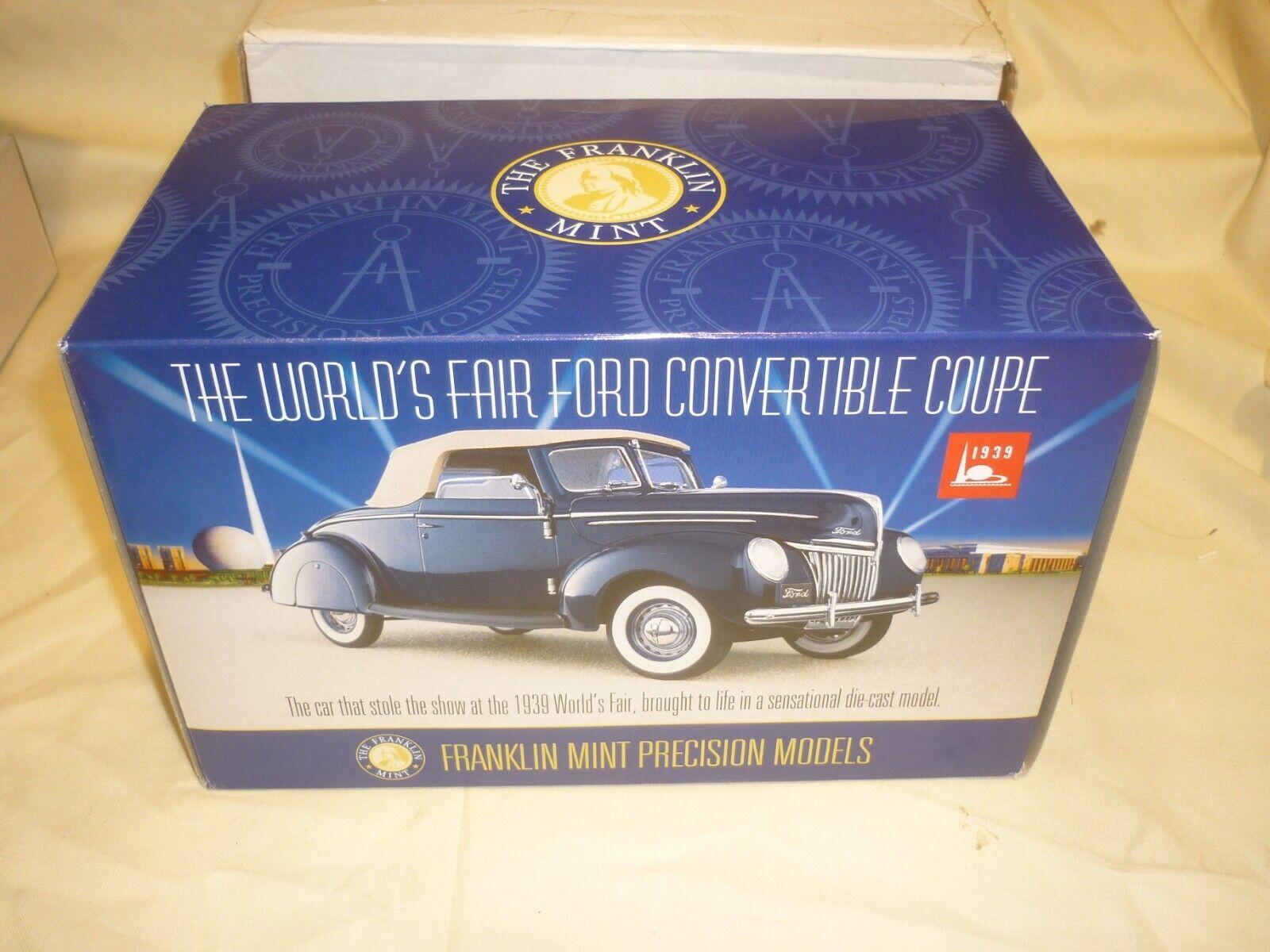 Une occasion FRANKLIN Comme neuf World's fair 1939 Ford Convertible,  Boxed, papiers,  livraison rapide