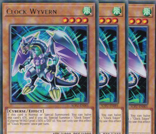 Yugioh 3x Clock Wyvern Sofu-en001 RARE TCG atzenjens