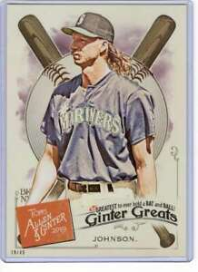 Randy Johnson 2019 Allen and Ginter Ginter Greats 5x7 #GG-18 /49 Mariners