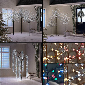 Details About Xmas Led Cherry Blossom Tree Kyoto Willow Multifunction Outdoor Christmas Lights