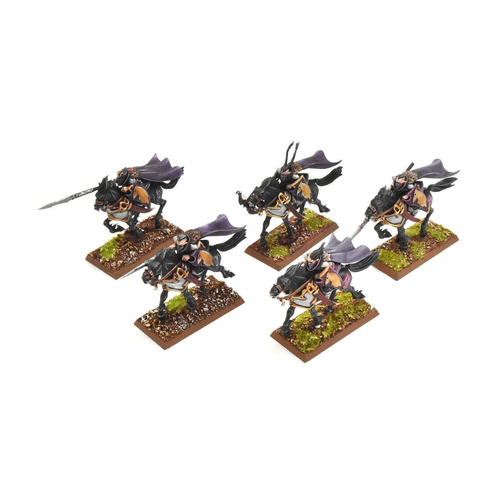 Elfos oscuros 5 Dark Riders  1 Pro pintado warhammer fantasy aelves