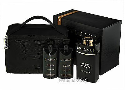 Bvlgari  Man in Black 100ml Eau de Parfum+75ml ASB+75ml Dg+Pouch
