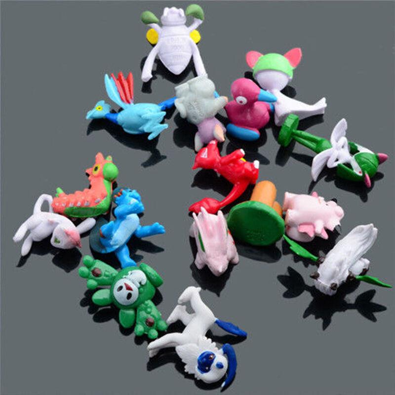 9pcs Pokemon Pokeball + 24pcs Action Figures Random Cosplay Pop-up BALL Kid Toys 10
