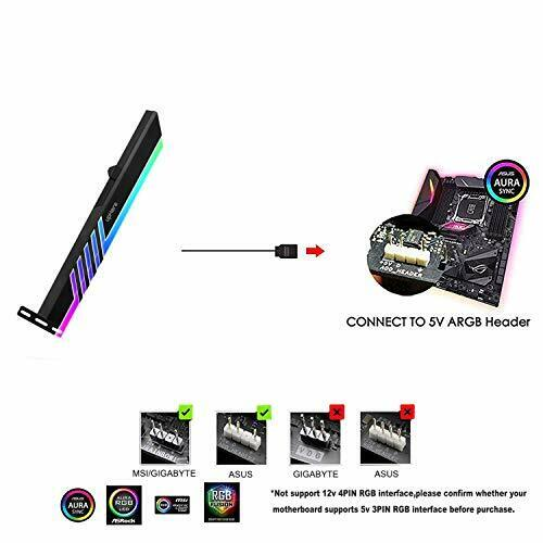 GS05ARGB upHere GPU Brace 5V 3-Pin RGB LED Graphics Card for Video Card Support
