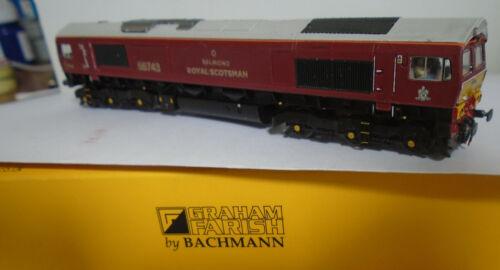 FARISH,BACHMANN REPAINT CLASS 66743 BELMOND ROYAL SCOTSMAN BODY SHELL ONLY
