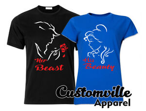 Couple Shirts Valentines His Beast Her Beauty T Gift Matching YqFntw