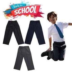 4d78effd0b Image is loading New-Kids-School-Uniform-Boys-BUDGET-Elasticated-Waist-