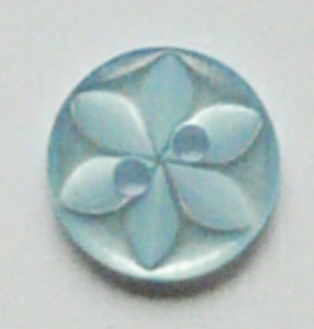 100 x BLUE STAR baby buttons size 22 13mm