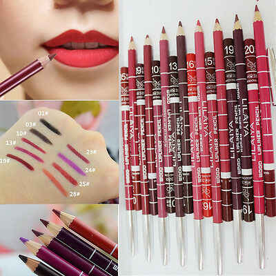 6Pc/Set Makeup Tool Lip Pen Waterproof Moisturizing Lipliner Pencil 15CM NEW XIC