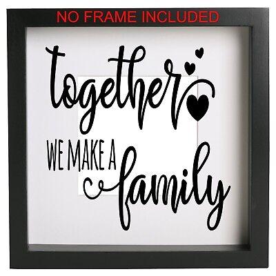 Families Are Like Fudge Funny Vinyl Decal Box Ribba Frame diy