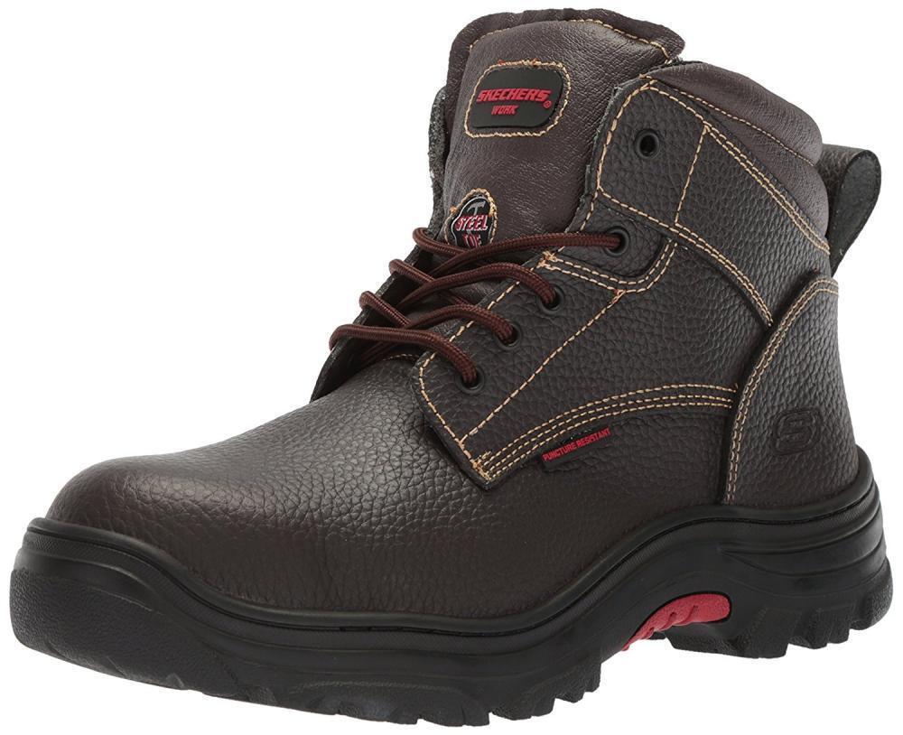 Skechers Men's Burgin-Tarlac Industrial stivali Steel Toe Electrical Electrical Electrical Leather scarpe f78b32