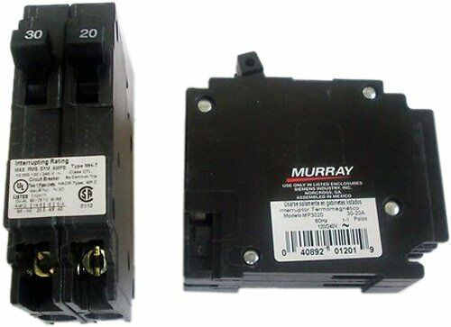 1 X Murray MP2030 One 20-Amp and One 30-Amp 120V Single Pole Circuit Breaker