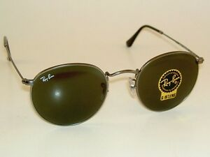 654fa03e9a New RAY BAN Sunglasses ROUND METAL Matte Gunmetal RB 3447 029 G-15 ...