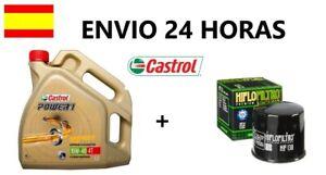 Aceite Castrol 10w40 Power1 4 litros y filtro Kymco AK 550 2017