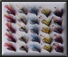 25 bumbles irlandese a mano legato Nuovo di Zecca Trota Pesca Mosche Fly Mulinello canna di linea