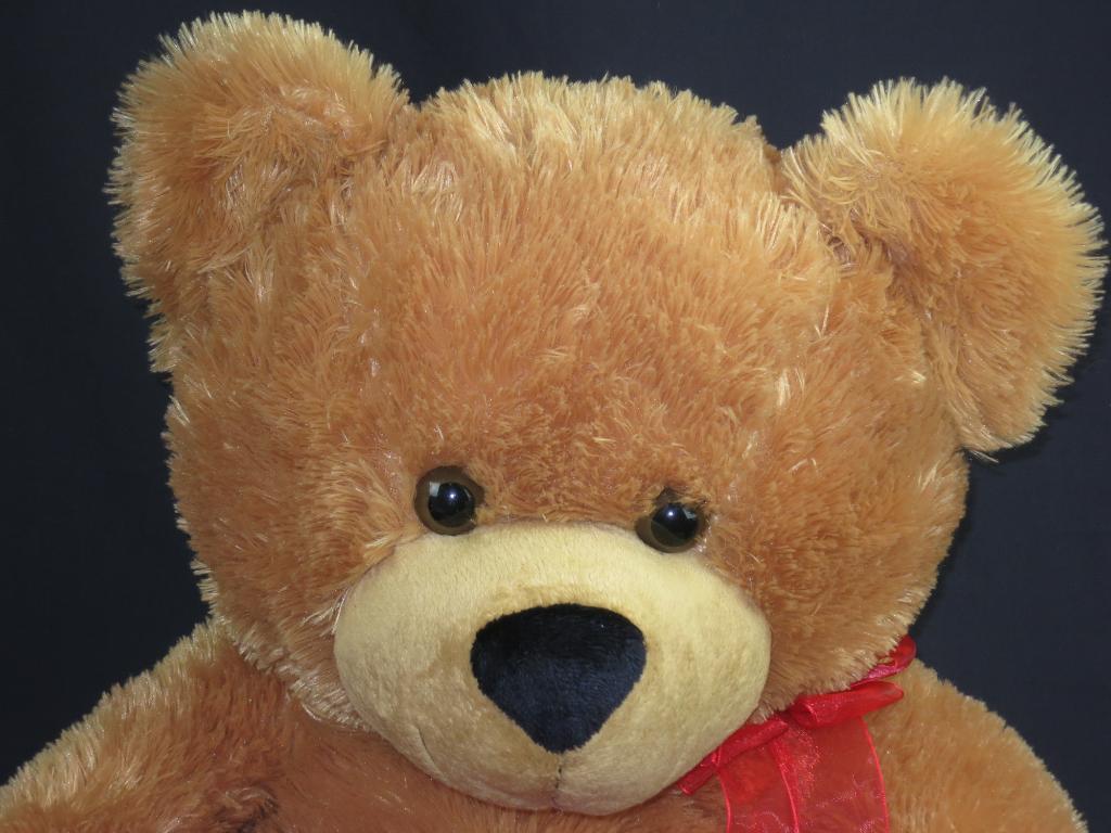 THE JUMBO I LOVE YOU DANDEE GOLDEN braun TEDDY SWEETHEART PLUSH STUFFED ANIMAL