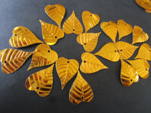 50 Applikation Aufnäher Gold Pailletten elegante  Borte Nähen 1,9cmx1,5cm