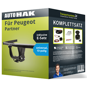 Anhängerkupplung starr für PEUGEOT Partner E-Satz ABE EC 94//20