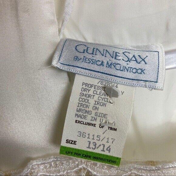 GUNNE SAX Jessica McClintock Size M Vintage White… - image 4