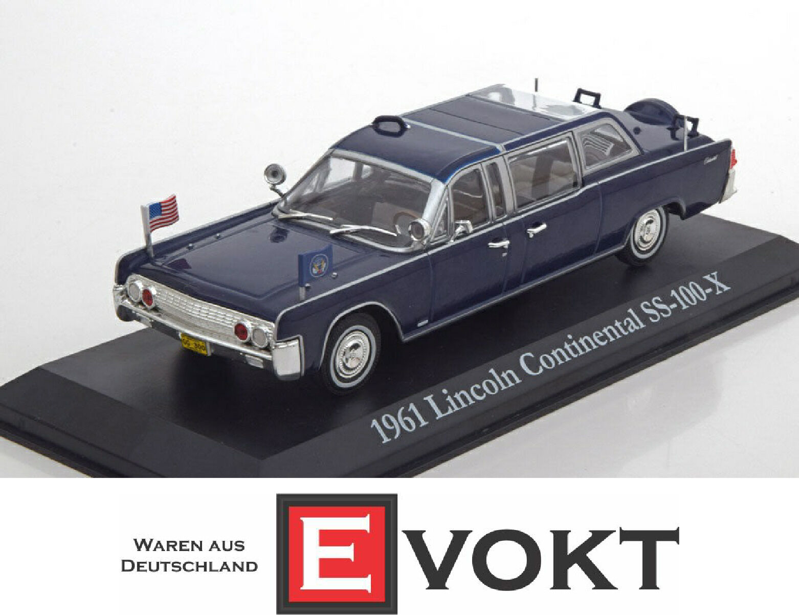 1:43 verdelight Lincoln Continental SS-100-X John F. Kennedy 1961