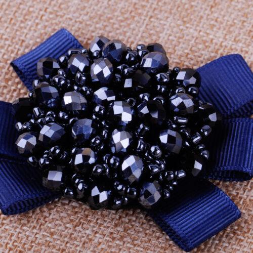 1 Paar Kristall-Perlen Schleifen Stiefel Schuhe Clips Damen Kinder Mädchen