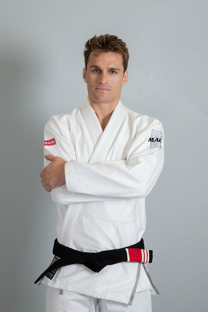 Maeda Red Label BJJ Gi White Brazilian Jiu Jitsu Kimono Uniform Grappling