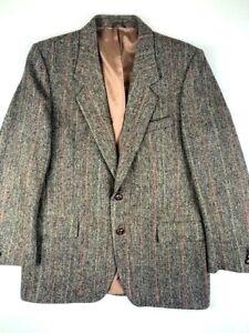 HARRIS-TWEED-Mens-Sports-Blazer-100-Virgin-Scottish-Wool-Size-42-R-Brown