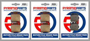 Front & Rear Brake Pads (3 Pairs) for Yamaha YFS 200 R Blaster 03-06