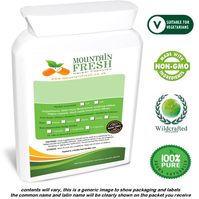 Organic Chaga Mushroom Pure Herb Capsules 100 X 1000mg