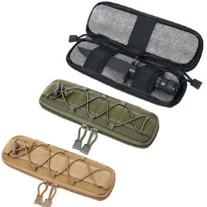 Outdoor-Military-MOLLE-Nylon-Elastic-Knife-Flashlight-Pouch-Bag-Case-Holster-L