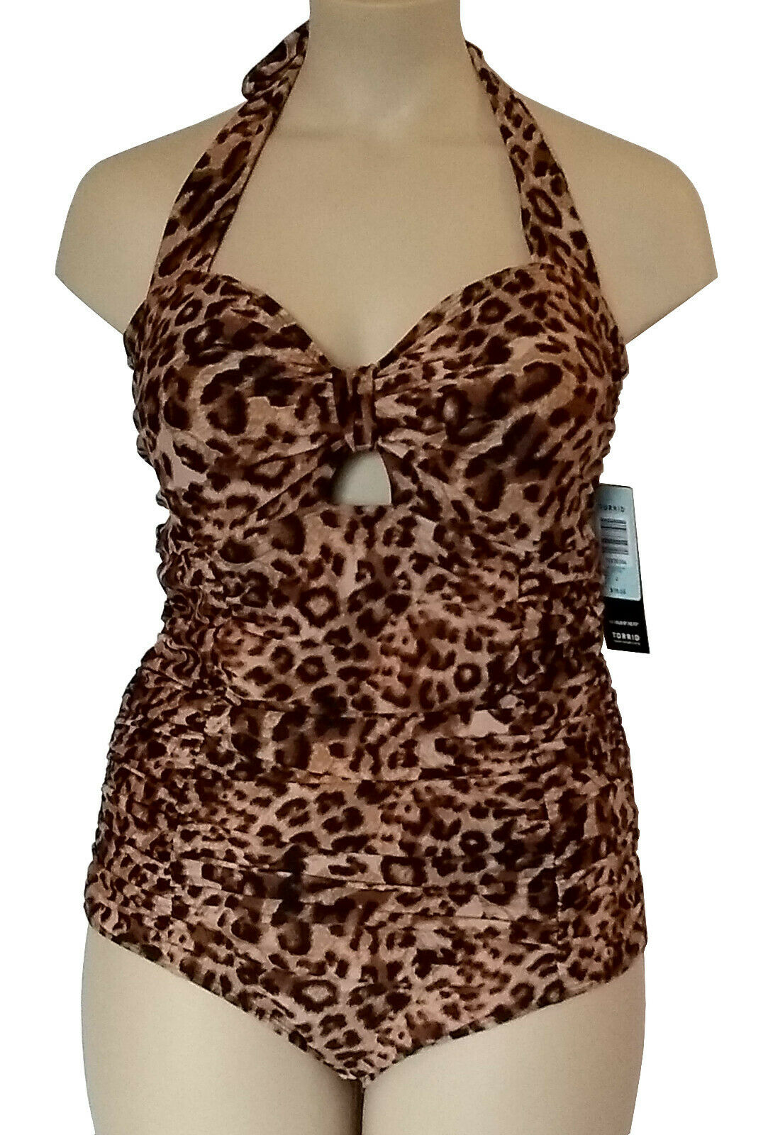 New Trend Leopard Tummy Control Swimsuit sizes 14-28 multiway straps C DD cup