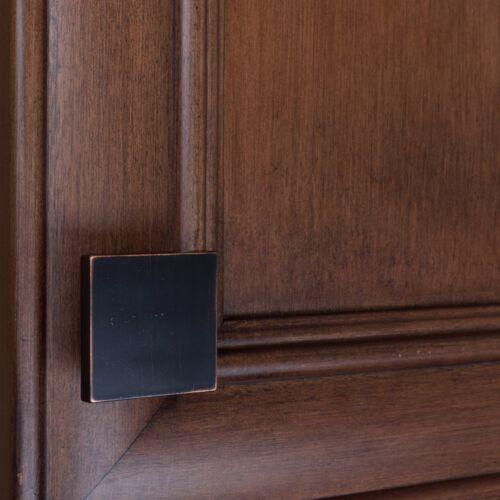 """5743-S-ORB-1 GlideRite 1-1//2/"""" Thin Square Cabinet Knob Oil Rubbed Bronze"""