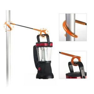 Black 24 LED Hook Hanged Lantern Camping Tent Hanger Light Lamp for Car H1Y2