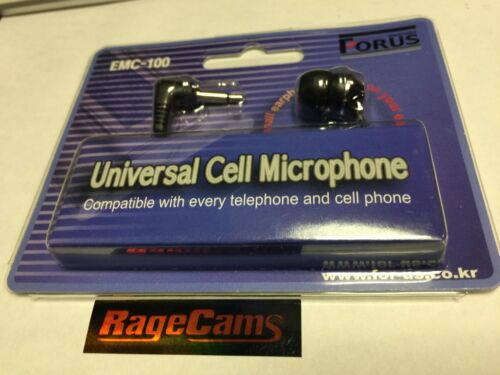 Forus Universal Cell Microphone EMC-100 Voice Recorder Plug Recording Solution