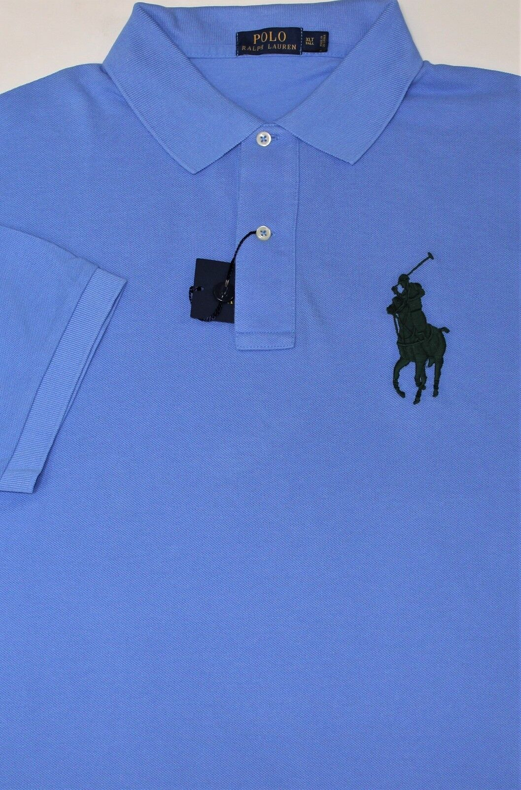 New Ralph Lauren Short Sleeve bluee Big Pony Cotton Mesh Polo   big 4X