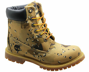 Timberland 6 Inch Wedge Womens Boots Beige Camo Camouflage Lace Up ... f22360c599