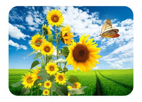 XXL 42 x 30cm Farbenfrohe Platzdeckchen 2er Set * Sonnenblumen *