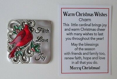 Tokens: Other Diligent L Faith Love Joy Warm Christmas Wishes Pocket Charm Cardinal Ganz Rich And Magnificent Coins & Paper Money