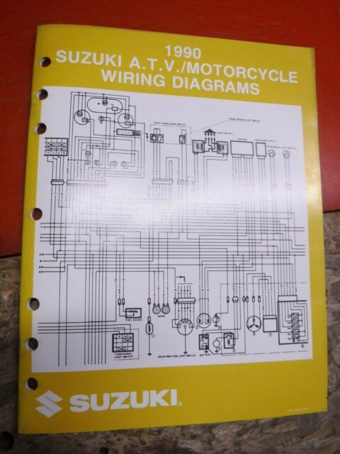 1990 Suzuki Atv  U0026 Motorcycle Original Factory Wiring