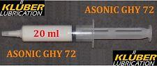 Kluber Asonic GHY 72, Synthetic grease, bearing lubrication 20ml, klueber Klüber