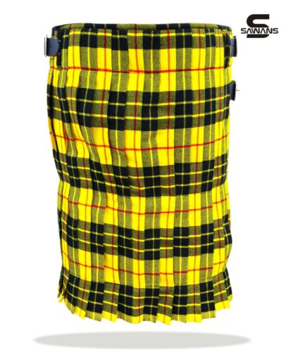 SAWANS 5 Yard Men/'s Scottish Kilts 13oz Highland Casual Tartan Kilt Various Size