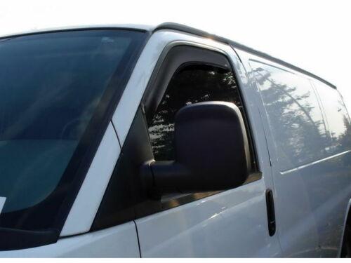 For 1996-2019 Chevrolet Express 3500 Side Window Deflector Ventshade 62688XN