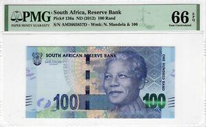 South Africa PMG Certified Banknote 2012 100 Rand UNC 66 EPQ Gem 136a Mandela