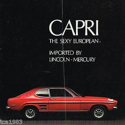 1970 Mercury Capri Sales Brochure