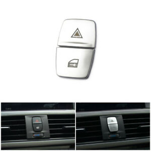Interior Warning Light Switch Locking Button Cover Trim For Bmw 1 3